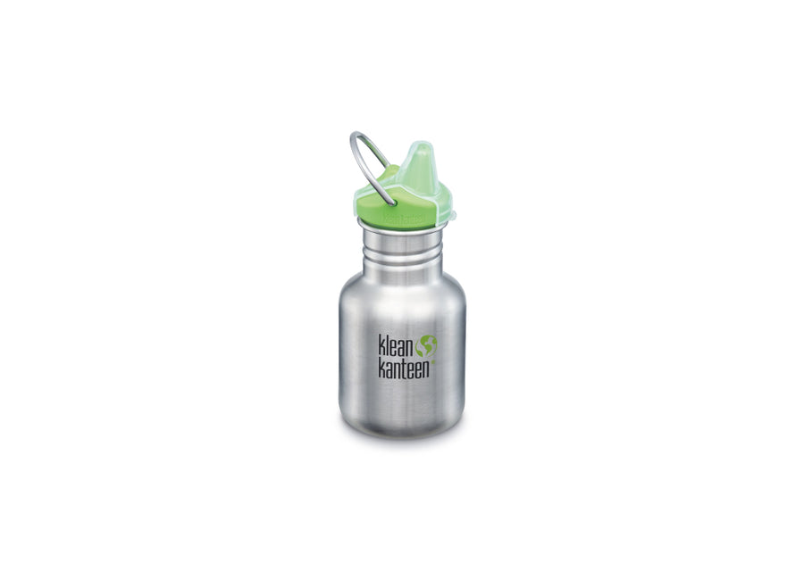Klean Kanteen Kid Classic w/ Sippy Cap 355ml - Brushed Stainless