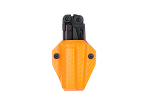 Clip & Carry Kydex Sheath: Leatherman MUT - Orange Carbon Fibre