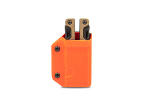 Clip & Carry Kydex Sheath: Leatherman OHT - Orange Carbon Fibre
