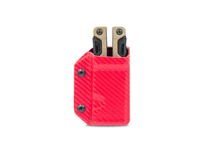 Clip & Carry Kydex Sheath: Leatherman OHT - Red Carbon Fibre
