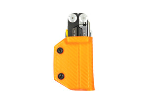 Clip & Carry Kydex Sheath: Leatherman Signal - Orange Carbon Fibre