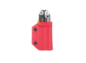 Clip & Carry Kydex Sheath: Leatherman Signal - Red Carbon Fibre