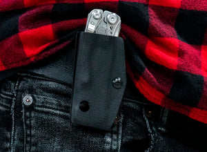 Clip & Carry Kydex Sheath: Leatherman Skeletool - Black