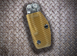 Clip & Carry Kydex Sheath: Leatherman Skeletool - Brown Carbon Fibre