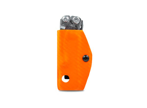 Clip & Carry Kydex Sheath: Leatherman Skeletool - Orange Carbon Fibre