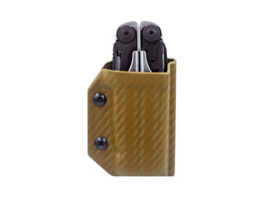 Clip & Carry Kydex Sheath: Leatherman Surge - Brown Carbon Fibre