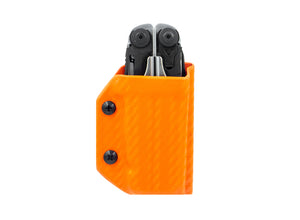Clip & Carry Kydex Sheath: Leatherman Surge - Orange Carbon Fibre