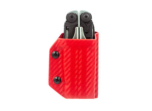 Clip & Carry Kydex Sheath: Leatherman Surge - Red Carbon Fibre