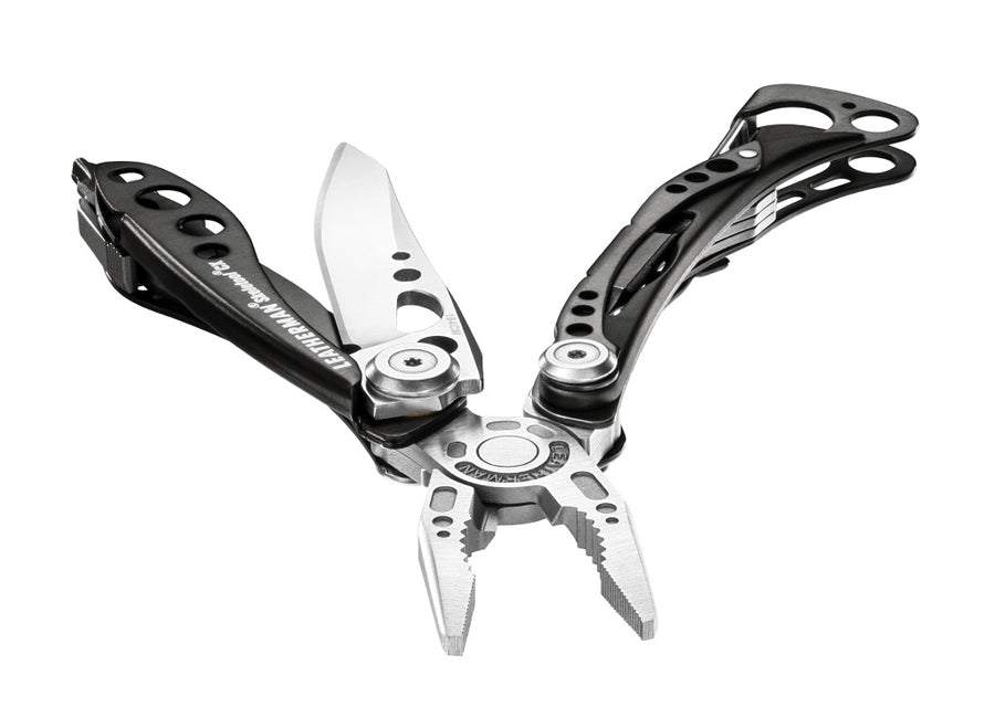 Leatherman Skeletool® CX Pocket Multi-Tool w/ Nylon Sheath - Black DLC with Stainless Steel