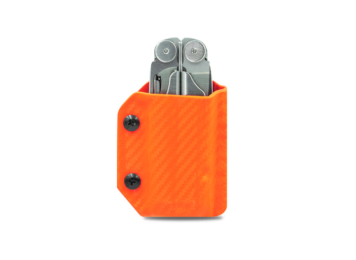 Clip & Carry Kydex Sheath: Leatherman Wave / Wave+ - Orange Carbon Fibre