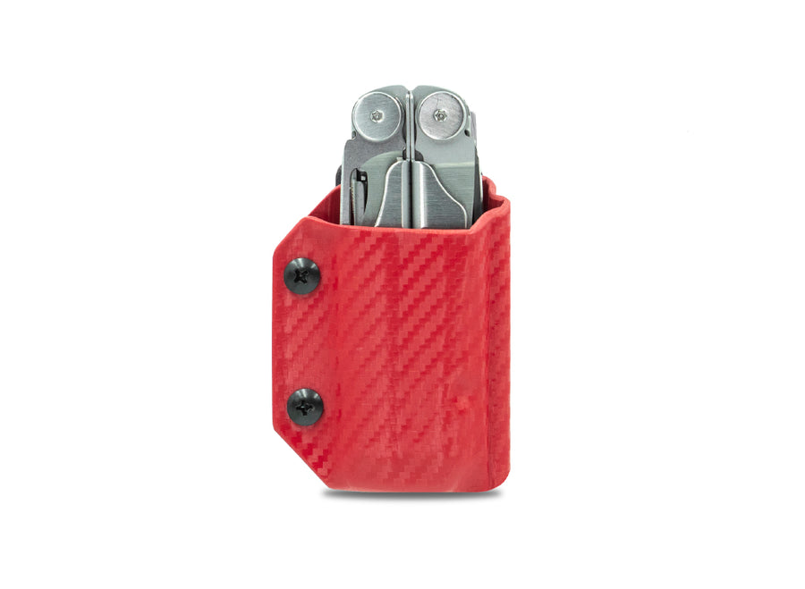 Clip & Carry Kydex Sheath: Leatherman Wave / Wave+ - Red Carbon Fibre
