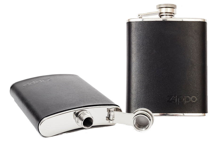 Zippo Leather Wrapped Hip Flask