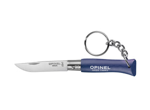 Opinel No.4 Colorama Non Locking Keyring Knife - Dark Blue