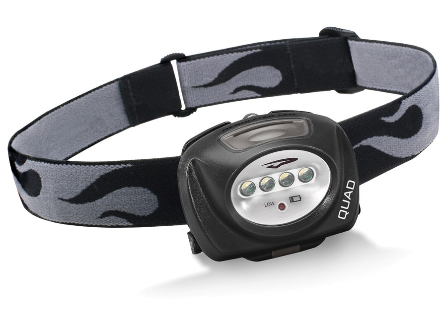 Princeton Tec Quad LED Head Torch - Black