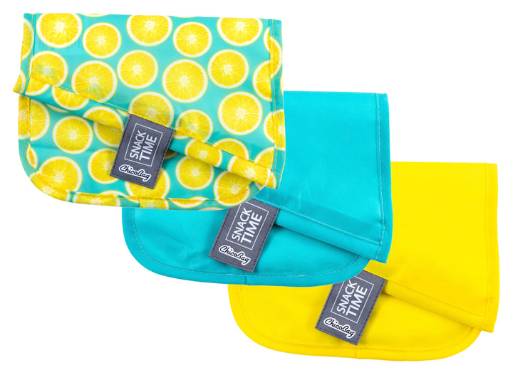 ChicoBag Snack Time Reusable Bags - Pack of 3 - Lemon