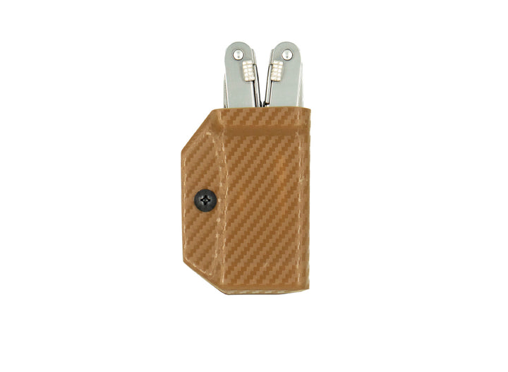 Clip & Carry Kydex Sheath: Victorinox Spirit - Brown Carbon Fibre