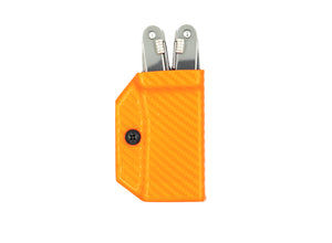 Clip & Carry Kydex Sheath: Victorinox Spirit - Orange Carbon Fibre