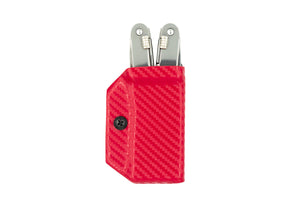 Clip & Carry Kydex Sheath: Victorinox Spirit - Red Carbon Fibre