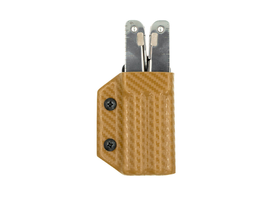 Clip & Carry Kydex Sheath: Victorinox SwissTool - Brown Carbon Fibre