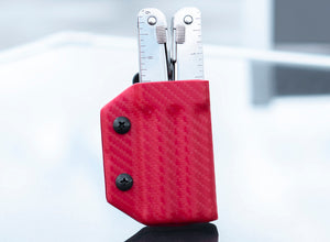 Clip & Carry Kydex Sheath: Victorinox SwissTool - Red Carbon Fibre