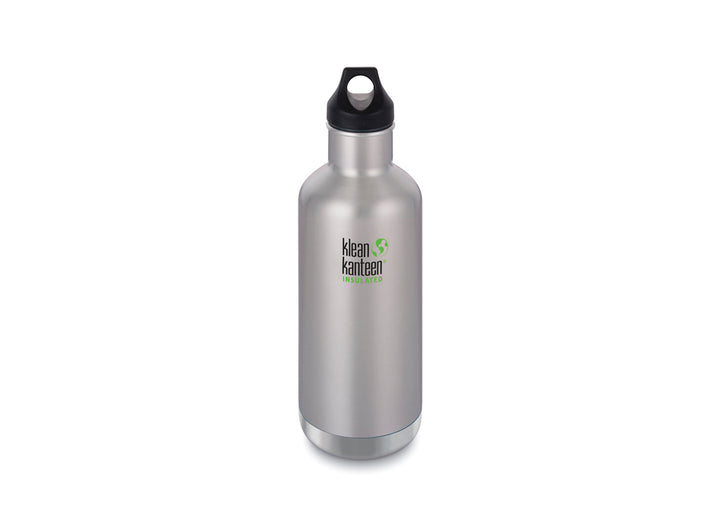 Klean Kanteen Insulated Classic w/ Loop Cap 946ml - Brushed Stainless