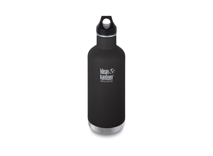 Klean Kanteen Insulated Classic w/ Loop Cap 946ml - Shale Black