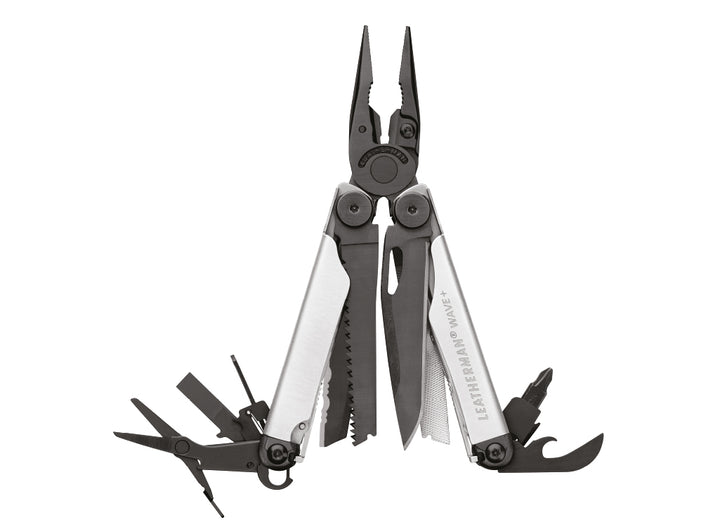 Leatherman Wave + Multi-Tool w/ Nylon Sheath - Black & Silver