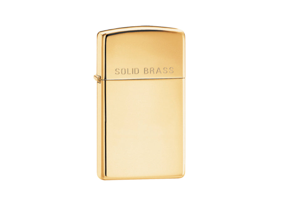 Zippo Slim Lighter - High Polish Brass