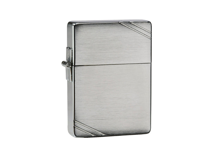 Zippo 1935 Replica with Slashes Lighter -  Brushed Chrome