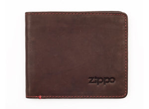 Zippo Leather Bi-Fold Wallet - Brown