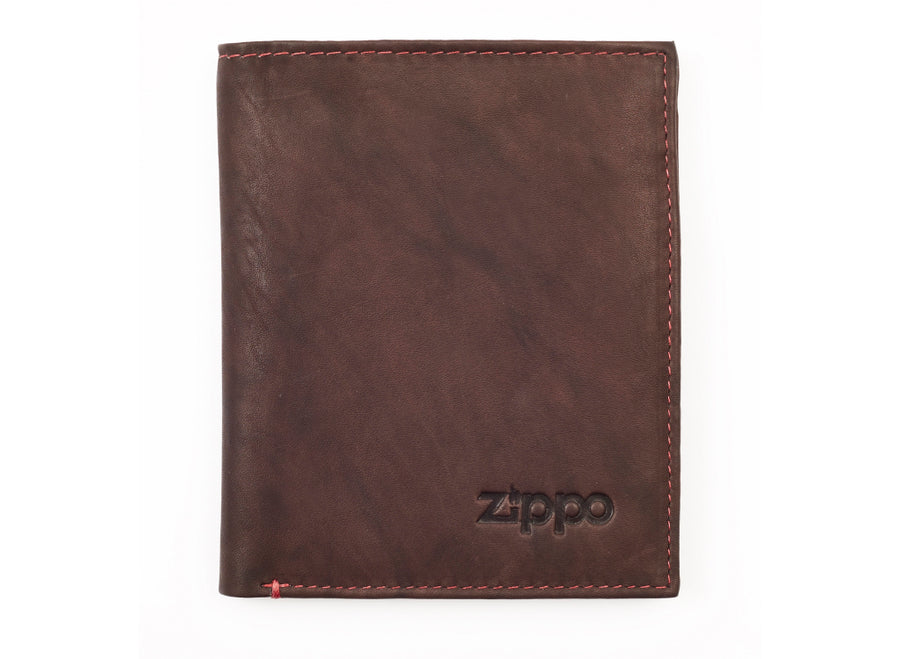 Zippo Leather Vertical Wallet - Brown