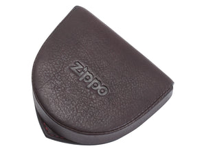 Zippo Leather Coin Pouch - Brown