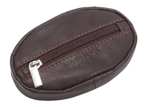 Zippo Leather Coin Purse - Brown