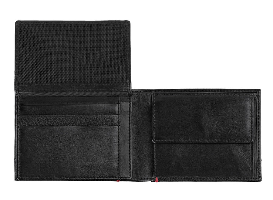 Zippo Nappa Leather Tri-Fold Wallet - Black