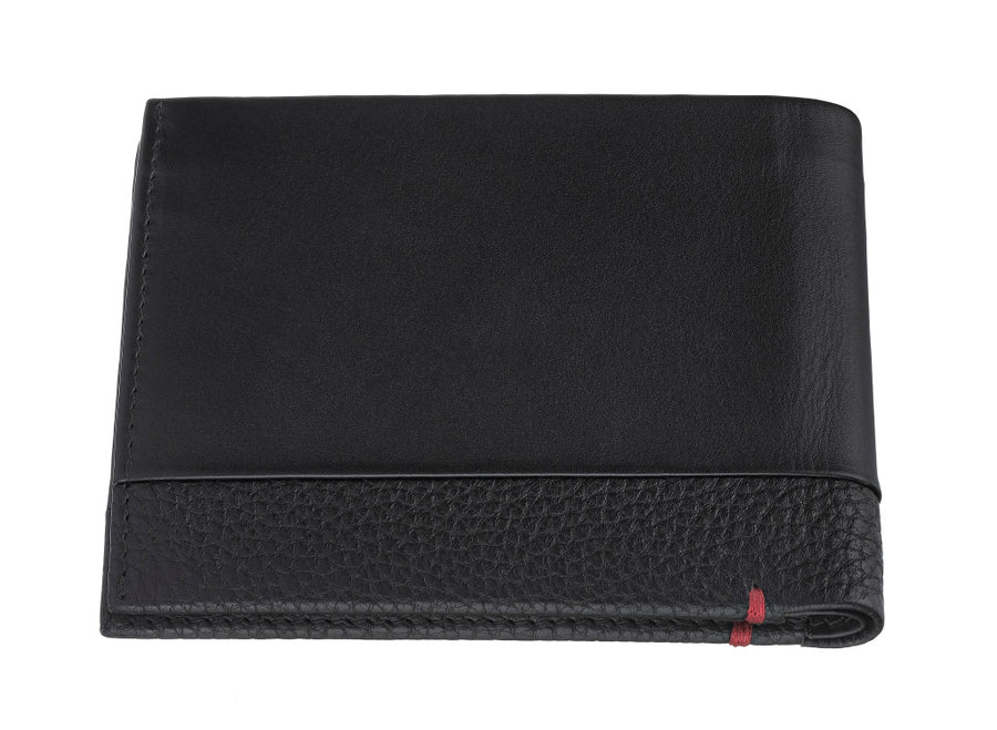 Zippo Nappa Leather Bi-Fold Wallet - Black