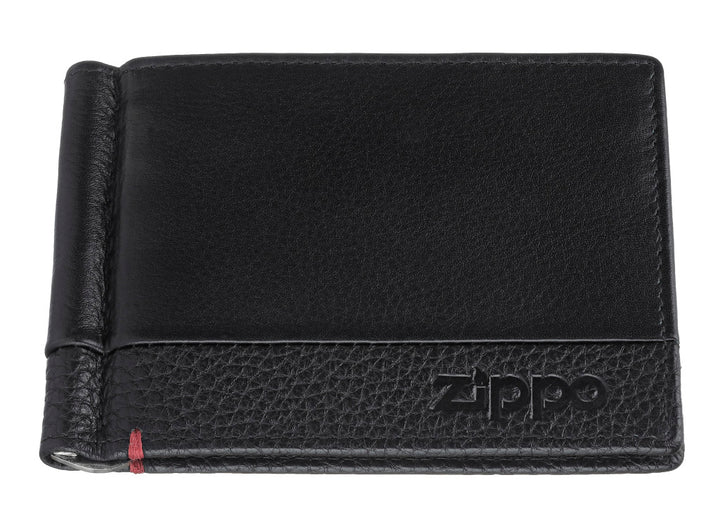 Zippo Nappa Leather Money Clip Wallet - Black