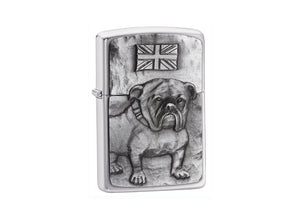 Zippo Bulldog Lighter - Brushed Chrome