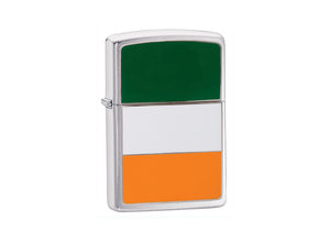 Zippo Ireland Flag Lighter - Brushed Chrome
