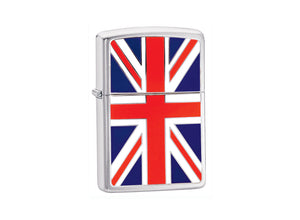 Zippo Union Jack Lighter - Brushed Chrome