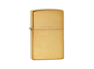 Zippo Lighter - Brushed Brass