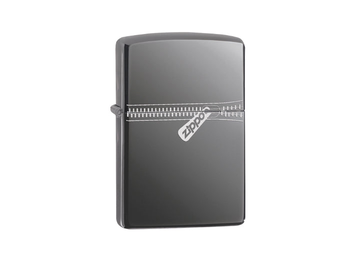 Zippo Zipper Lighter - Black Ice