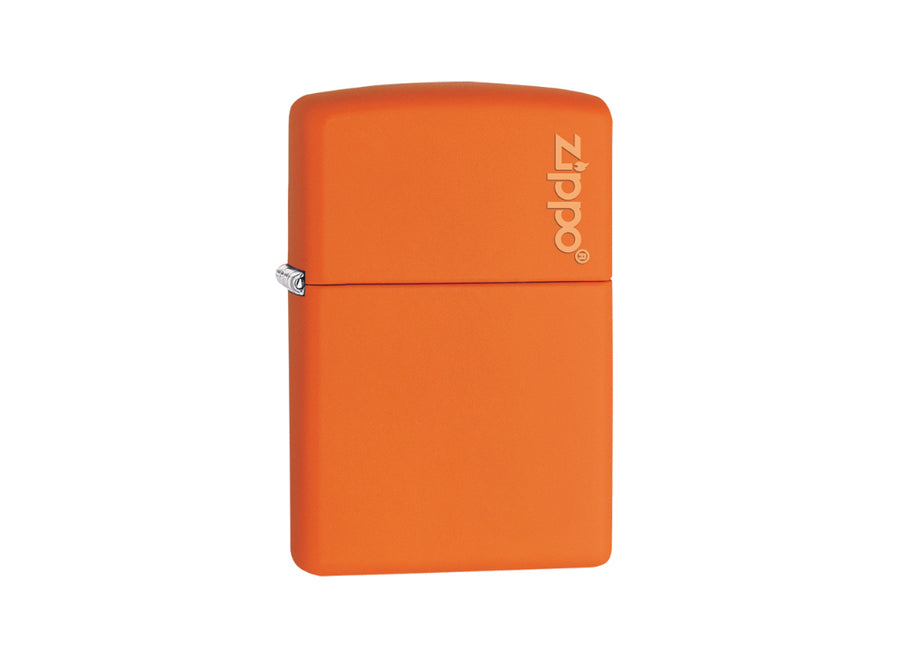 Zippo Logo Lighter - Orange Matt