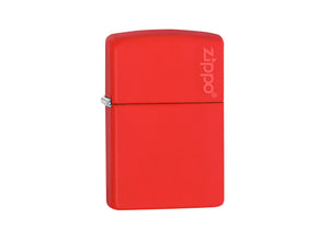 Zippo Logo Lighter - Red Matt