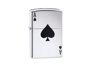 Zippo Lucky Ace Lighter - High Polish Chrome