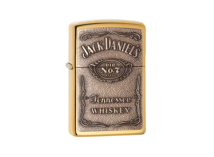 Zippo Jack Daniel's Lighter - High Polish Brass