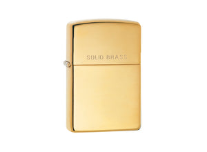 Zippo Lighter - High Polish Brass