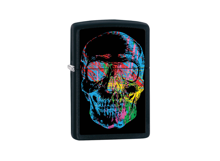 Zippo X-Ray Skull Lighter - Black Matt