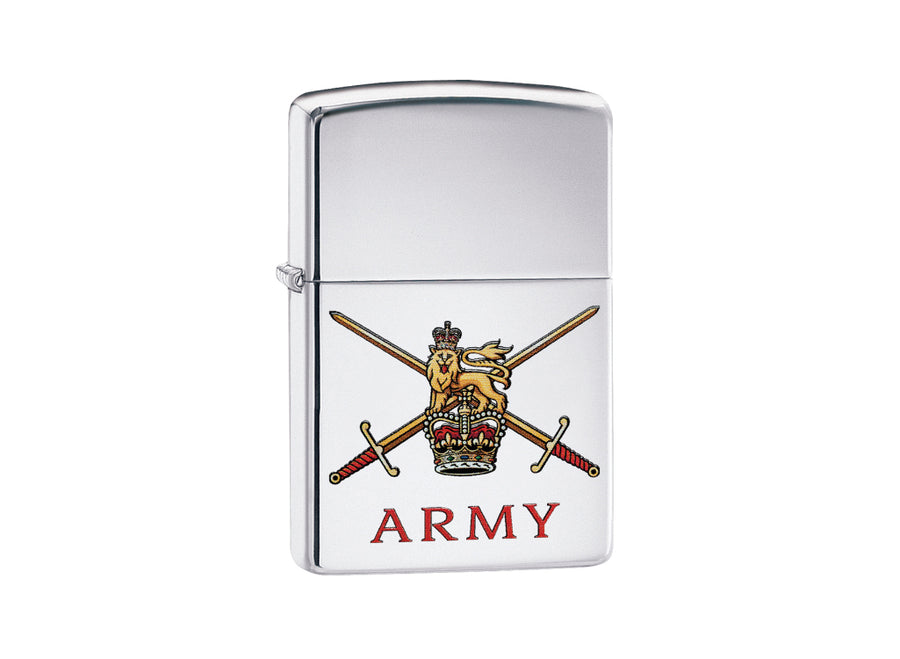 Zippo British Army Lighter - High Polish Chrome