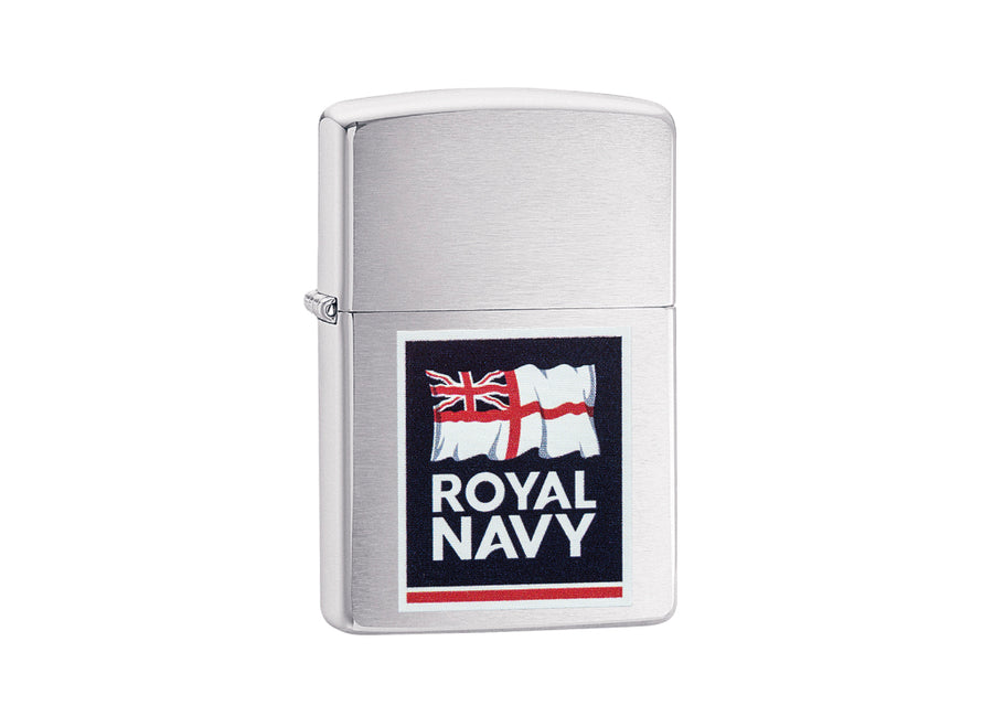 Zippo Royal Navy Lighter - Brushed Chrome