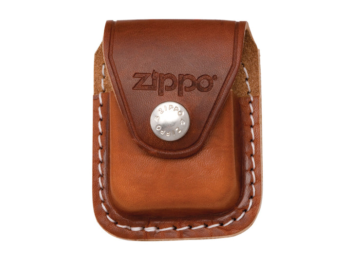 Zippo Lighter Pouch w/ Belt Clip - Brown
